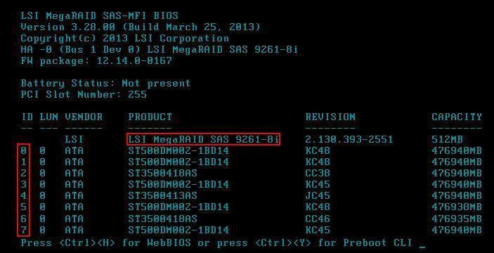 RAID에 대한 기본적 정의부터 구성까지(LSI MegaRAID SAS 9261